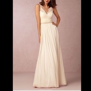 Anthro BHLDN Hitherto Fleur Dress Cream 8